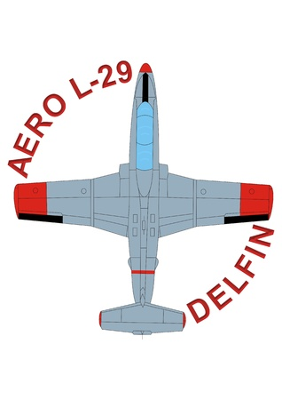 jet training aircraft Aero L-29 Delfin Stock Photo