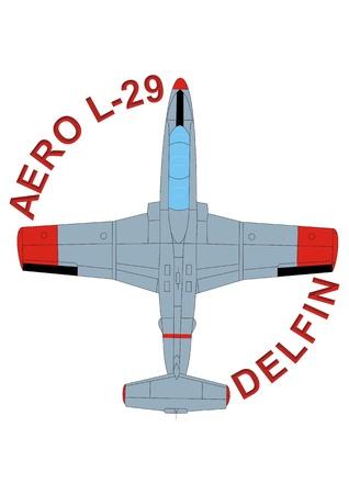 jet training aircraft Aero L-29 Delfin Stock Photo