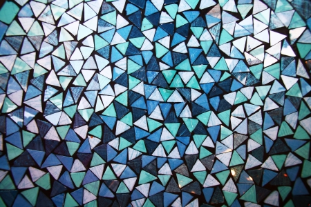 blue and white mosaic background