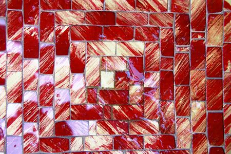 red mosaic background