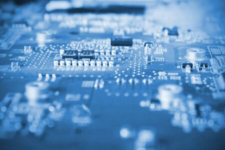close-up of electronic circuit board  Stock Photo