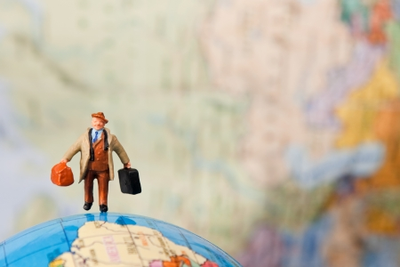 travelling alone around the world  Stock Photo