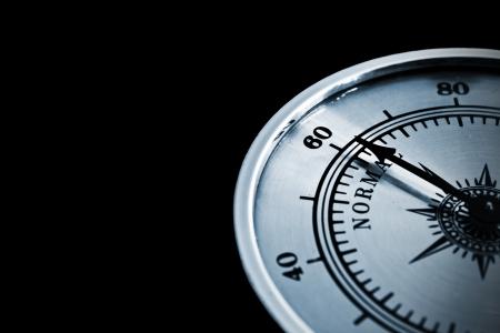 humidity gauge: humidity gauge - humidity meter on black background
