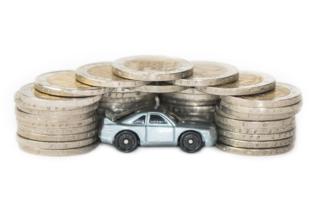 Concept for car sales, expenses or car insurance Stock Photo