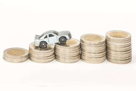 expenses: Concept of car expenses, sales or insurance Stock Photo