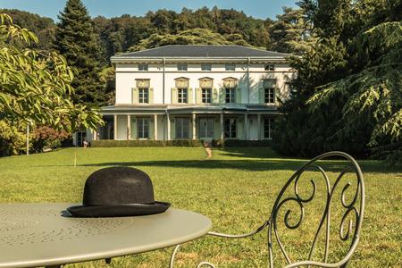 Charlie Chaplins world museum in Vevey, Switzerland Editorial