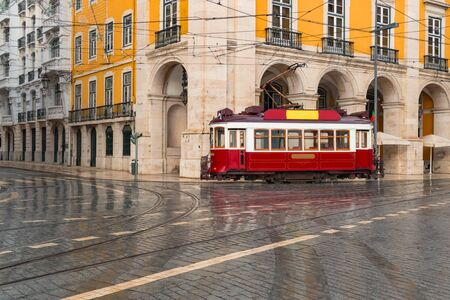 Streetcar in Lisbon, Portugal Stock Photo