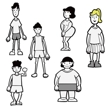 People with different body shape
