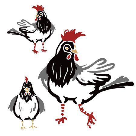 chinese new year chicken Çizim