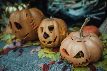 home hand made decoration for the celebration of Halloween