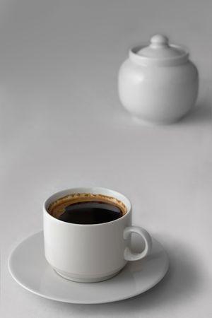 coffee hour: coffee and sugar