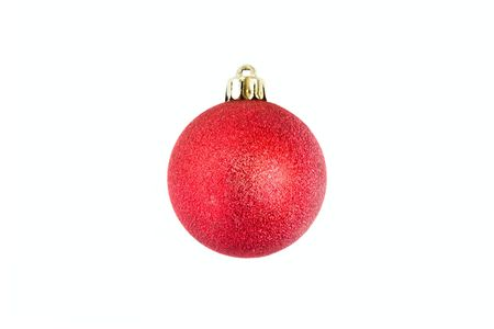 Red Christmas bauble isolated on white background  photo