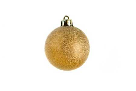 Christmas bauble isolated on white background photo