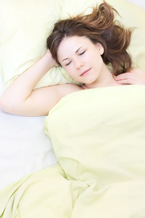 beautiful young woman in her sleep Stock Photo - 6813890