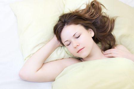 beautiful young woman in her sleep Stock Photo - 6813917
