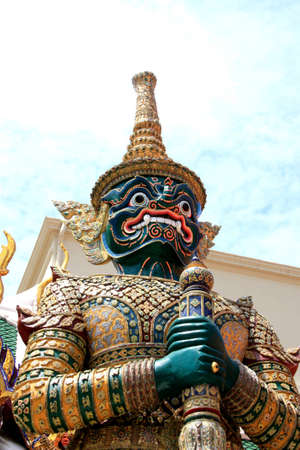 Giant in Ramayana at Bangkok Thailand photo