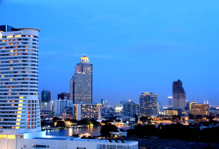 Twilight at bangkok Thailand photo