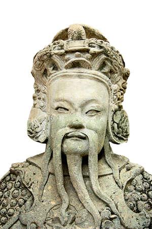 statuary: Chinese Statuary in Thai temple Stock Photo