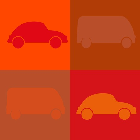 Cars background pattern in old style Vector