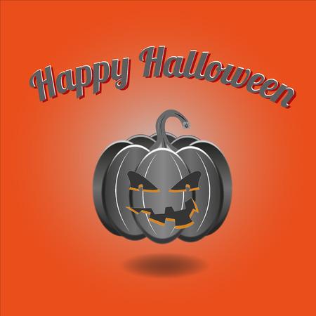Happy Halloween orange style - Jack O Lantern Halloween Pumpkin Vector