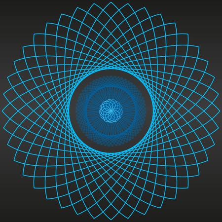 portal: Abstrac black background blue portal