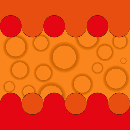 bubble background: Orange circle and bubble background Illustration