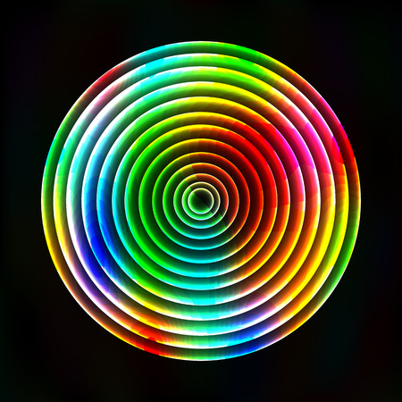 astral: Colorful light circles abstract background - vector astral background