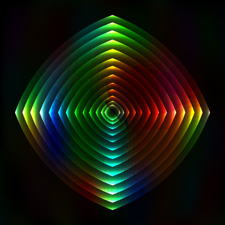 astral: Colorful light figure abstract background - vector astral background