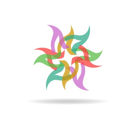 buisness: Buisness icon - colorful abstract flower Illustration
