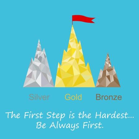 achieving: Achieving the goal, the podium
