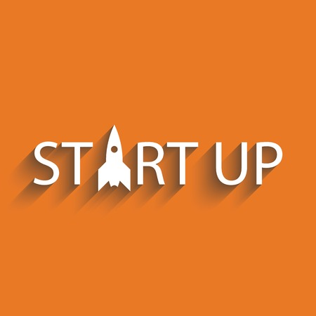 new start: Start up new business project or idea, presentation background