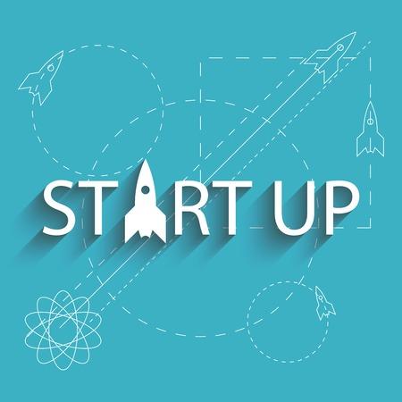 Opstarten succes nieuw project, een plan van de ontwikkeling van het bedrijfsleven