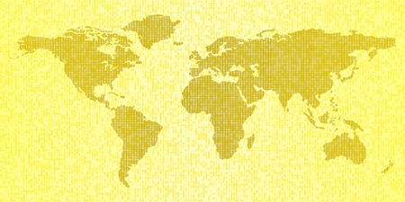 Map of the world, yellow abstract travel background Vector