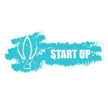 Start up business, air baloon idea Vector