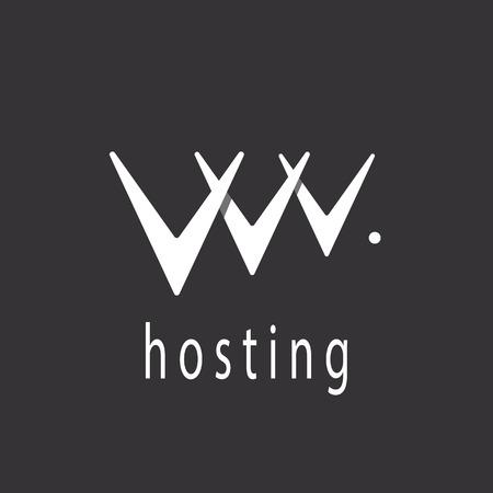 v alphabet: V letter or abstract web hosting sign  Illustration