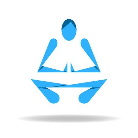 lotus pose: Abstract body in Yoga lotus pose