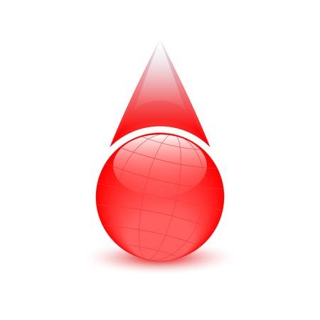 donor: La gota de sangre, globo signo, d�a del donante