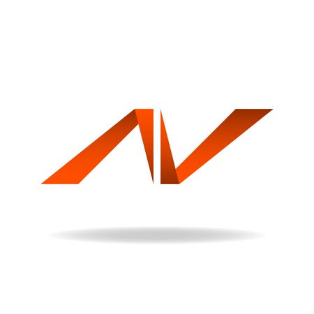 Abstract letter N, logo website, site icon 일러스트