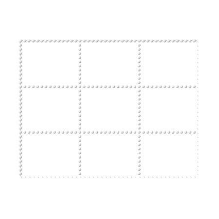 philately: Mockup blank design six stamps block, philately paper template frames Illustration