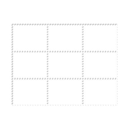 blanked: Mockup blank design six stamps block, philately paper template frames Illustration