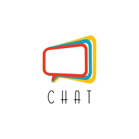 Logo chat. parler concept, signe de la technologie de communication idée