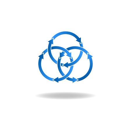 Blue ring arrows
