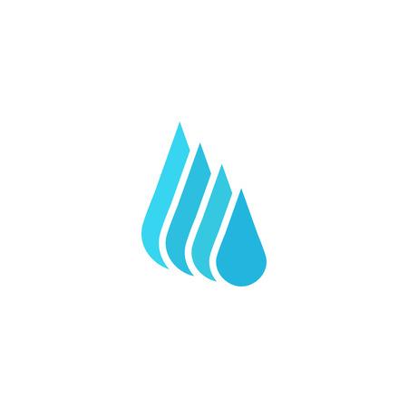 environnement entreprise: Droplet eau douce, le nettoyage maquette ou d'affaires liquide, environnement ic�ne Illustration