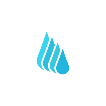 Droplet fresh water  , mockup cleaning or liquid business, environment icon Vettoriali