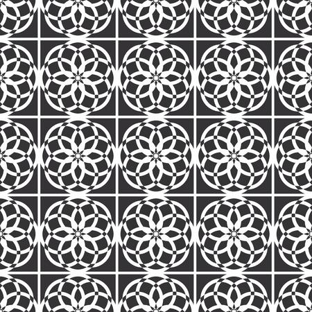 symmetry: Arabic oriental seamless pattern, islamic traditional geometric symmetry ornament Illustration