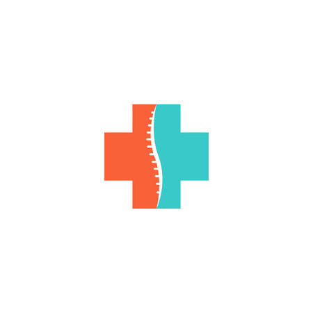 Abstract spine logo, medical orthopedic spinal icon