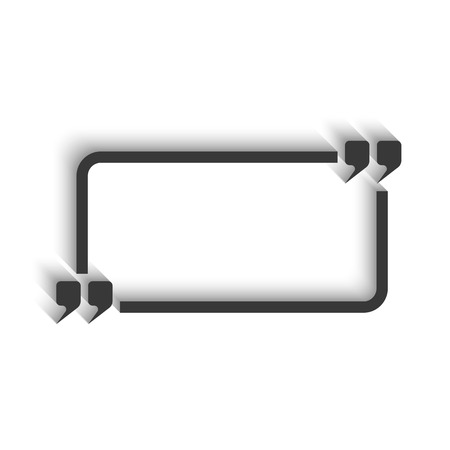 isoleted: Quote and rectangle frame for text isoleted, mockup modern chat massage