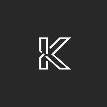 K letter mockup logo