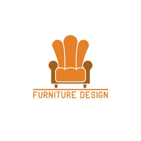 furniture: Furniture logo mockup