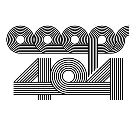 offset: Mockup page error 404 oops information webpage, offset line lettering modern style